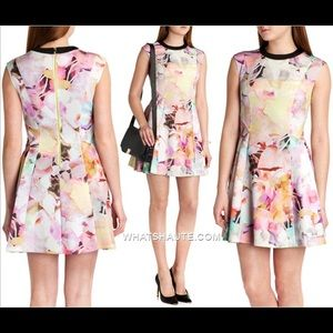 Ted Baker London Dresses - Ted Baker Jeneyy Electric Daydream Scuba dress szS